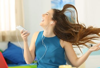 Hearing Happy Dancing Listening ECA Hearing Aid